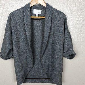 Bar III Open Front Wool Blend Dolman Sleeve Blazer